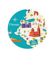 marseille city map vector image