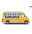 modern food truck vector image vector image