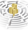 Money in the maze vector image vector image