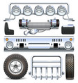 Offroad Car Spares vector image vector image