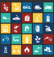 oil industry icons on color squares vector image