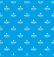 pizza delivery pattern seamless blue vector image vector image