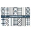 plaid pattern seamless ornate set light color vector image vector image