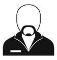 prison criminal icon simple style vector image vector image