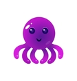 Purple Balloon Octopus Character vector image vector image