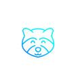 raccoon line icon logo vector image vector image