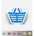 realistic design element shopping cart vector image