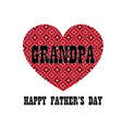 red bandana heart grandpa fathers day vector image vector image