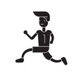 running to win black concept icon running vector image