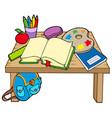 school table 2 vector image