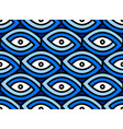 seamless eye pattern impossible figure vector image vector image