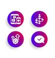 seo gear block diagram and social media icons set vector image vector image