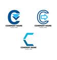 set letter c arrow logo design template vector image vector image