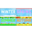 Set scenery seasons vector image vector image