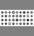 snowflakes winter clip art element for greeting vector image vector image