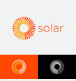 solar logo sunrays with vortex loading icon vector image vector image