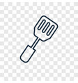 spatula concept linear icon isolated on vector image