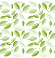spring green leaves abstract on wight background vector image vector image