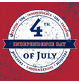 Symbol 4th July holiday Independence Day vector image