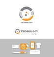 Technology business circle logo vector image