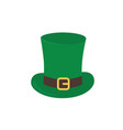 the hat is a top hat with a strap and a golden vector image