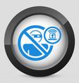 thief alarm concept icon vector image