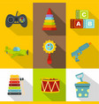 toys for kids icon set flat style vector image vector image