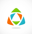 triangle color abstract logo vector image vector image