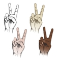Victory fingers gesture set vector image vector image