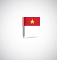 vietnam flag pin vector image