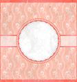 Vintage pink frame vector image