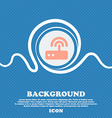 Wi fi router sign icon Blue and white abstract vector image vector image