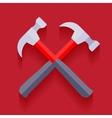 Crossed hammers vector image