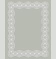 delicate white frame vector image