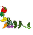Happy Vegetables Background vector image