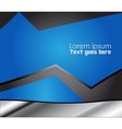 Abstrac blue background vector image vector image