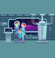 astronauts family flat vector image vector image