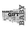 baby shower gift baskets tips and ideas text word vector image vector image