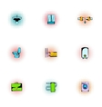 Bathroom icons set pop-art style vector image vector image