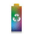 battery recycle sign vector image vector image