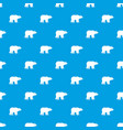 bear pattern seamless blue vector image vector image