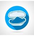 Bivalve oyster flat round icon