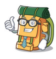 businessman backpack character cartoon style vector image