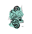 cafe racer print t-shirt motorcycle helmet vector image vector image