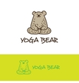cartoon bear in yoga pose logo Cute vector image