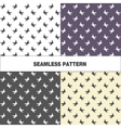 Collection of seamless pattern with swallow vector image