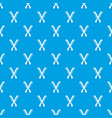 Combs pattern seamless blue vector image