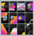 creative brochure templates with hexagonal design vector image