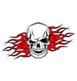 danger evil skull as a tattoo isolated on white vector image vector image