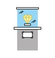 diamond in museum icon vector image vector image